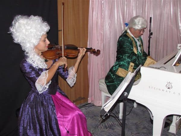 Entertainers at Crystal's signature Mozart Tea