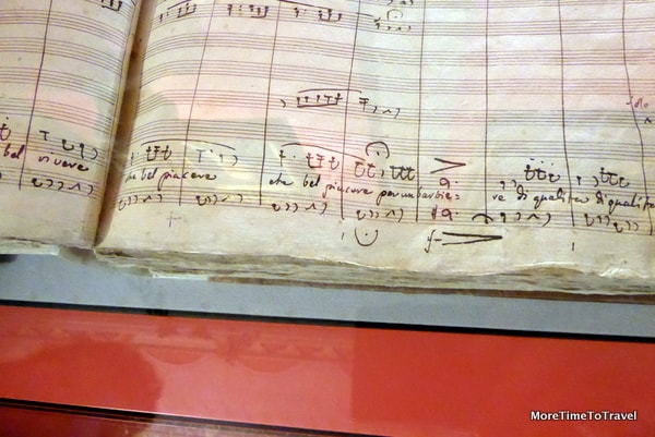 Original score of the Barber of Seville by Rossini