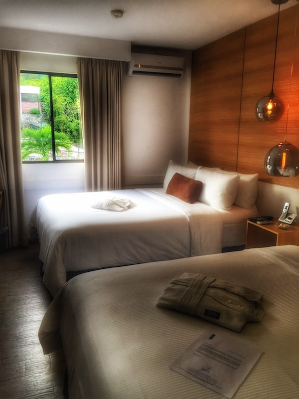 Guestrooms bear no numbers at the Sal y Luz boutique hotel. This guestroom is named Armonia