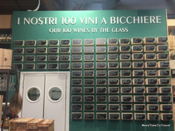 Beer wall at FICO Eataly World displays 100 types of beer sold by the glass