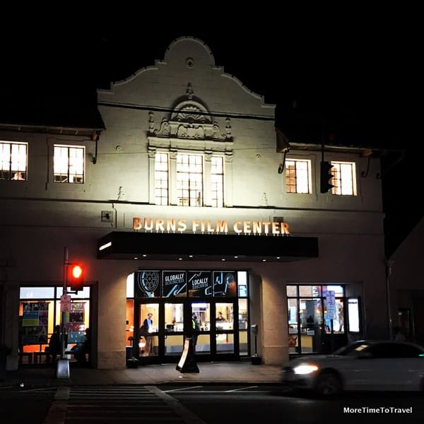 Pleasantville's Jacob Burns Film Center at night
