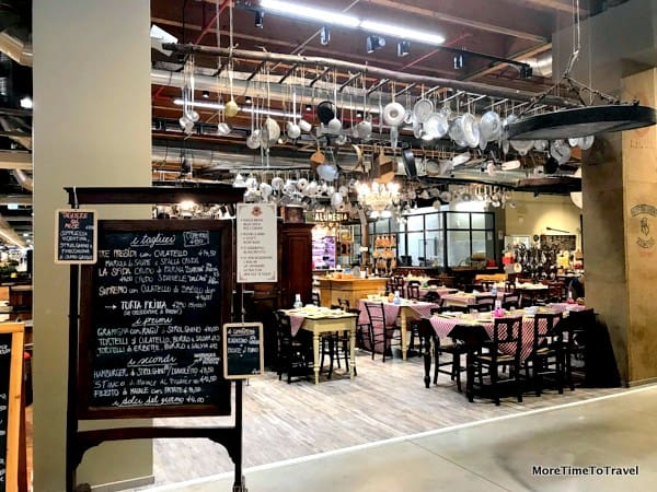 """A charming """"salumeria"""" at FICO Eataly World, one of 45 eateries"""
