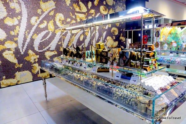 A Venchi Chocolate Wall at FICO