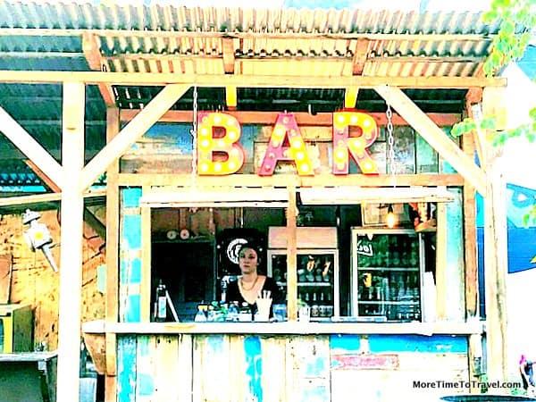 One of the bars at Gerolds Brau Garten
