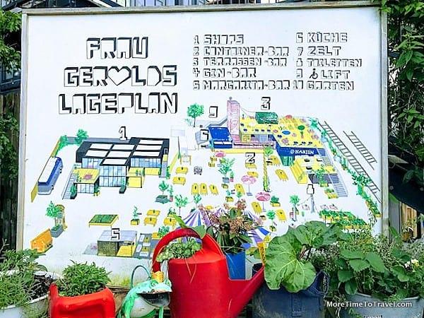 """""""Floor Plan"""" of Gerolds Brau Garten"""