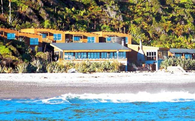 Punakaiki resort on the edge of the Tasman Sea