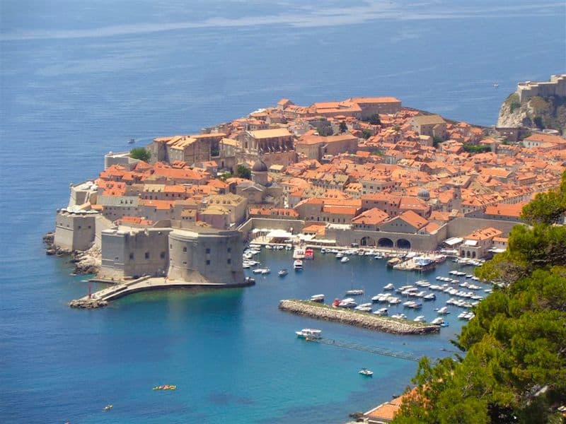 High above Dubrovnik