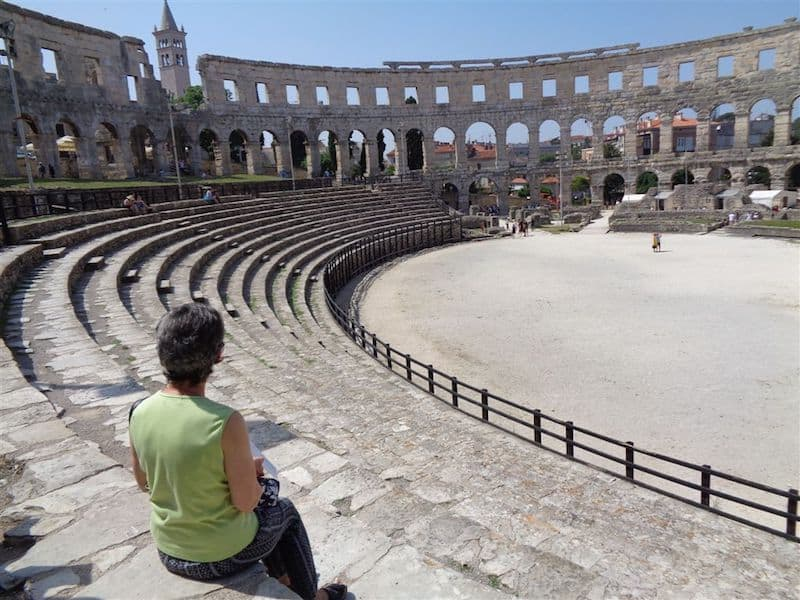 Huge Roman Amphitheatre in Pula, Croatia