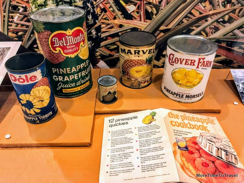 Pineapple memorabilia on display