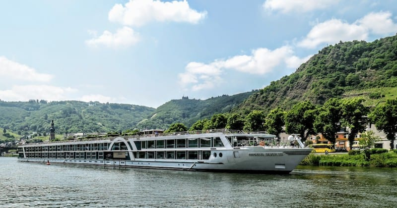 Amadeus Silver III on the Moselle River in Cochem, Germany
