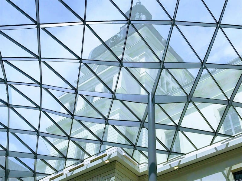 Glass roof of the Confluence