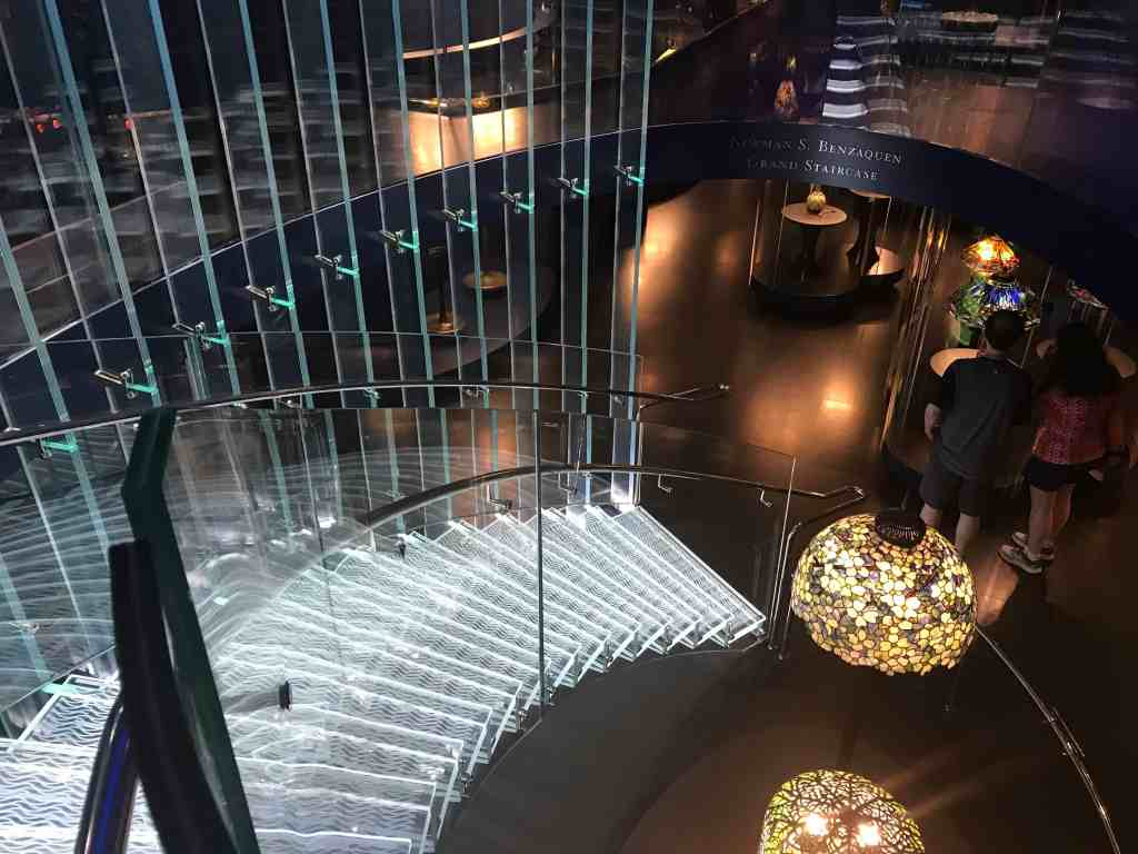 Glass staircase at the Tiffany Gallery (Credit: Jerome Levine)
