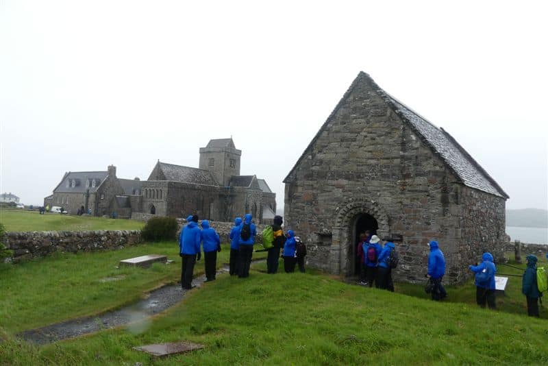 Iona Abbey in the rain