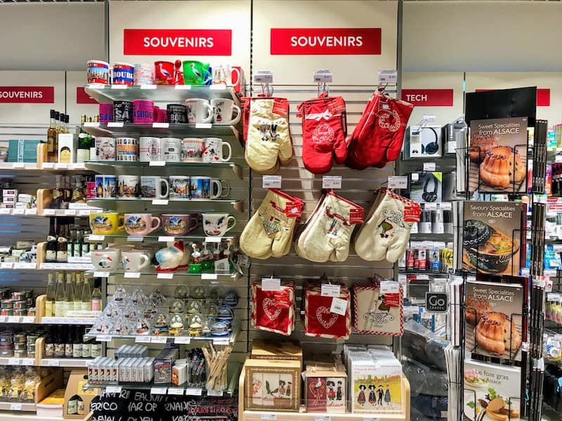 Alsatian souvenirs at the Casino Shop at Strasbourg Airport (Credit: Jerome Levine)