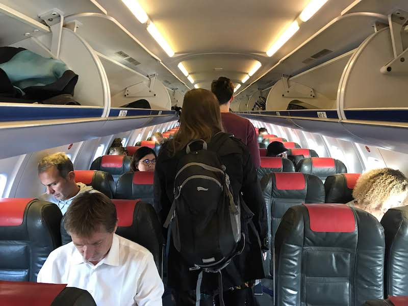 Interior of the Bombardier CRJ700