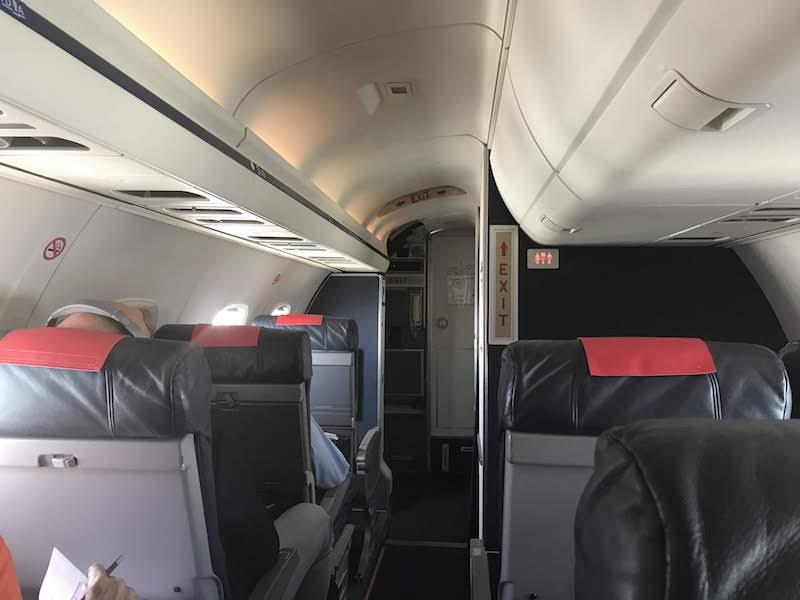 Inside an Embraer ERJ145