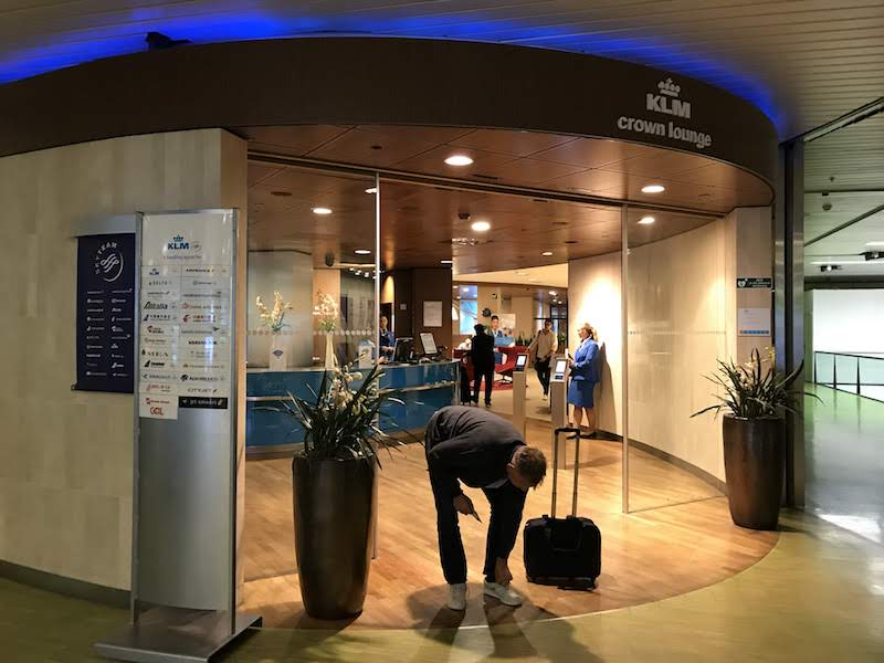 Entrance to the more posh KLM Crown Lounge