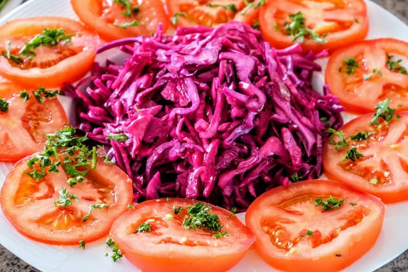Cabbage salad, part of a country lunch
