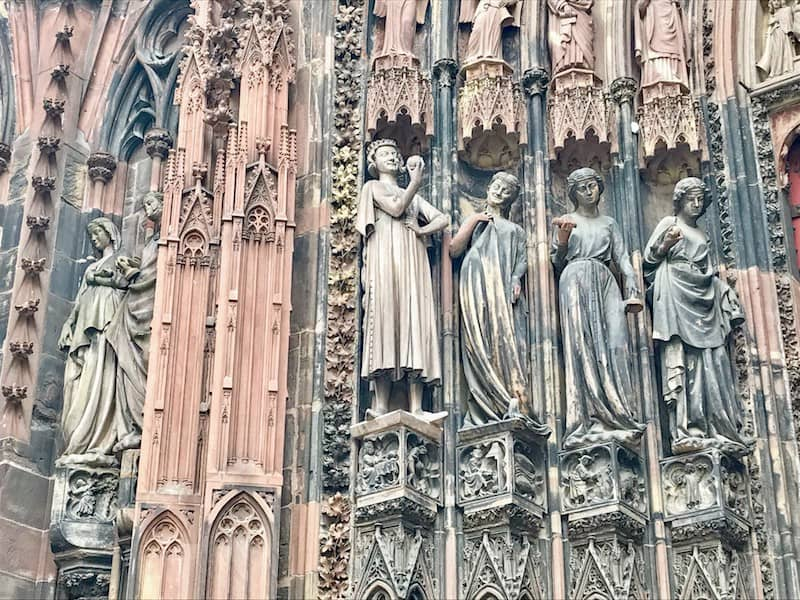 One day in Strasbourg: View of the facade, Strasbourg Cathedral