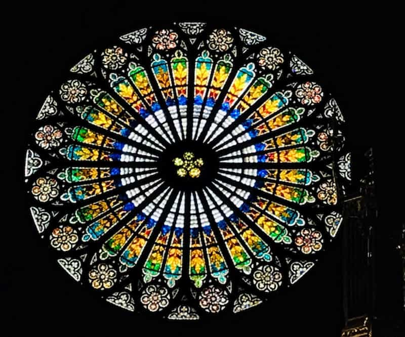 One day in Strasbourg: Rosette window in the Strasbourg Cathedral