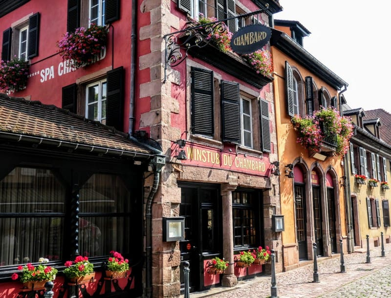 Best Day Trip from Strasbourg - The Winestub (wine lounge) at Chambard in Kayserberg