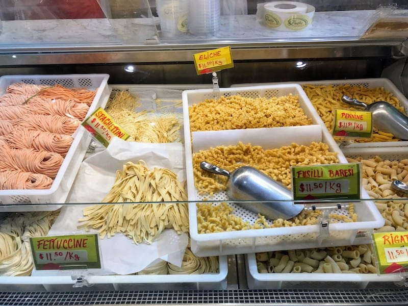 Fresh pastas at Jean Talon Market
