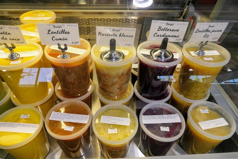 Homemade soups at Jean Talon Market