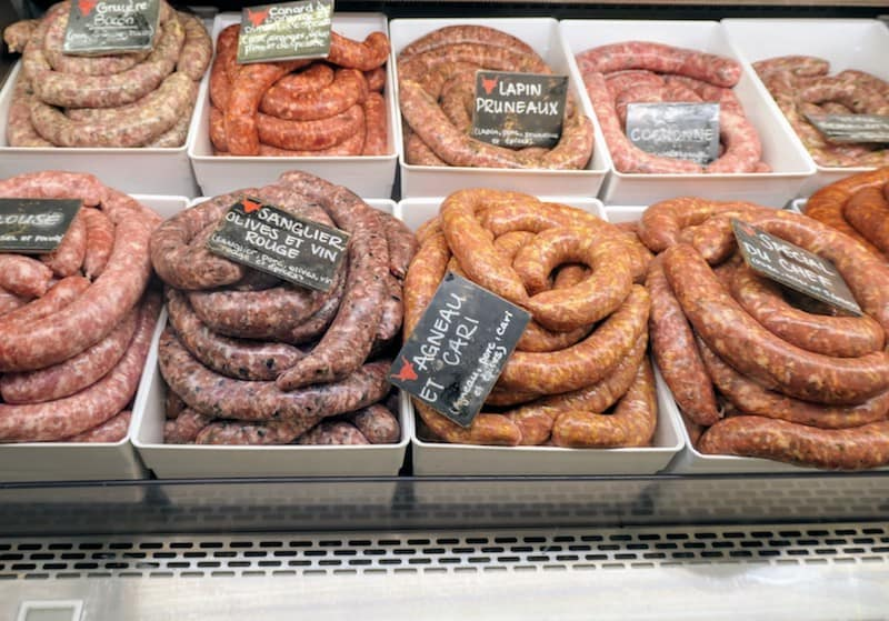 Sausages at Jean Talon Market