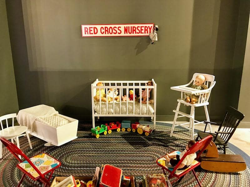 Immigrants arriving at Pier 21 were happy to find a Red Cross nursery to tend to their children