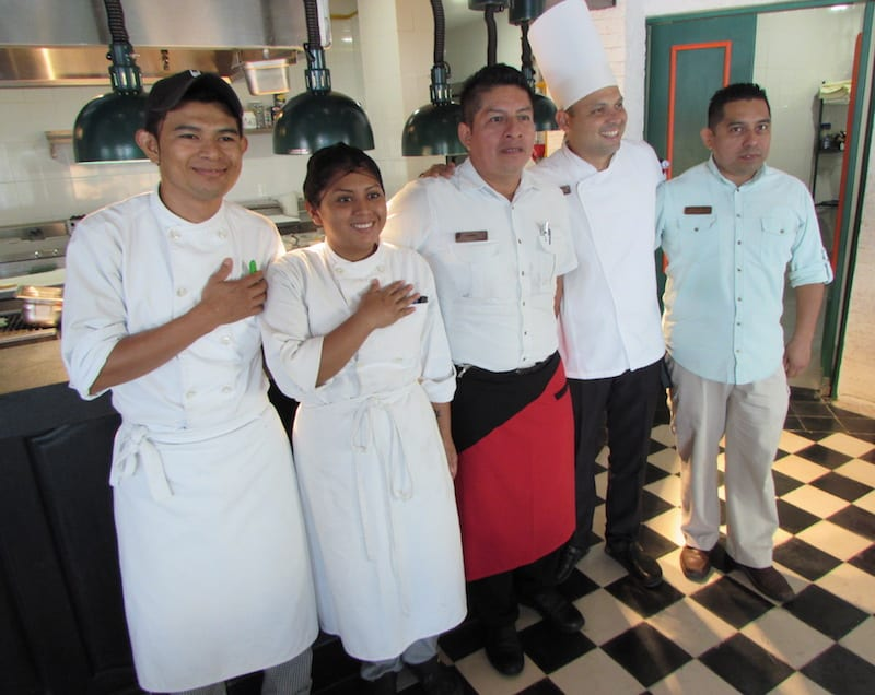 The always-friendly chef and waiters at Panama Jack