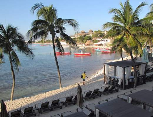 View from the balcony of Panama Jack, Playa del Carmen