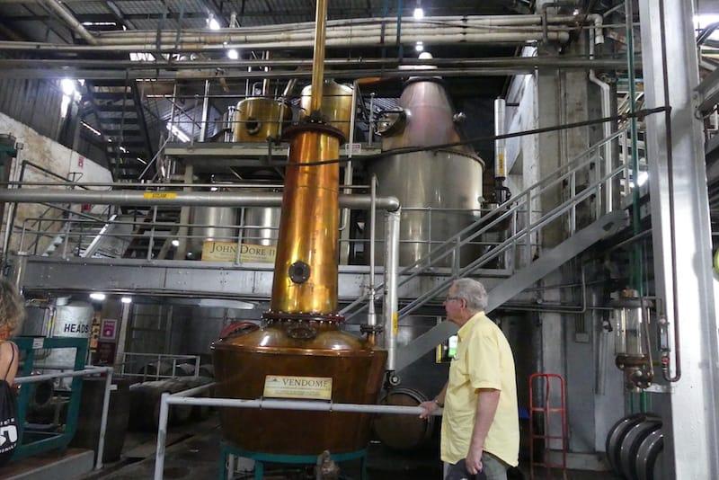 The rum still at St. Lucia Distillery