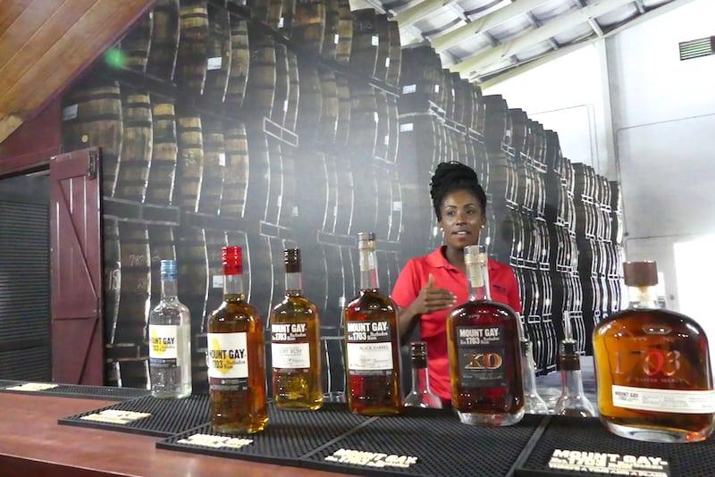 Mount Gay Rum Sampling Room in Barbados