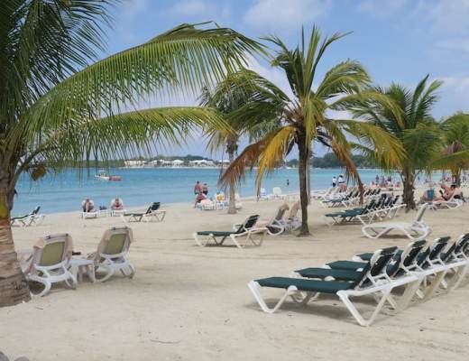 Beach Loungers at Hotel Riu Palace Tropical Bay
