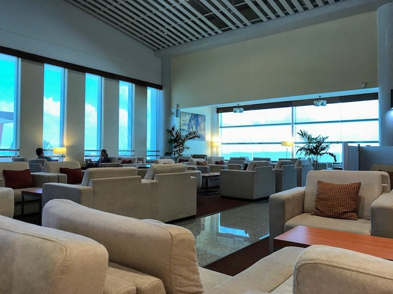 Another view of the lounge at Antigua Airport