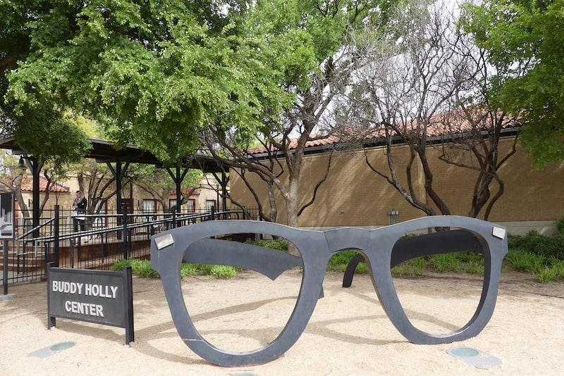 Iconic glasses at the Buddy Holly Center