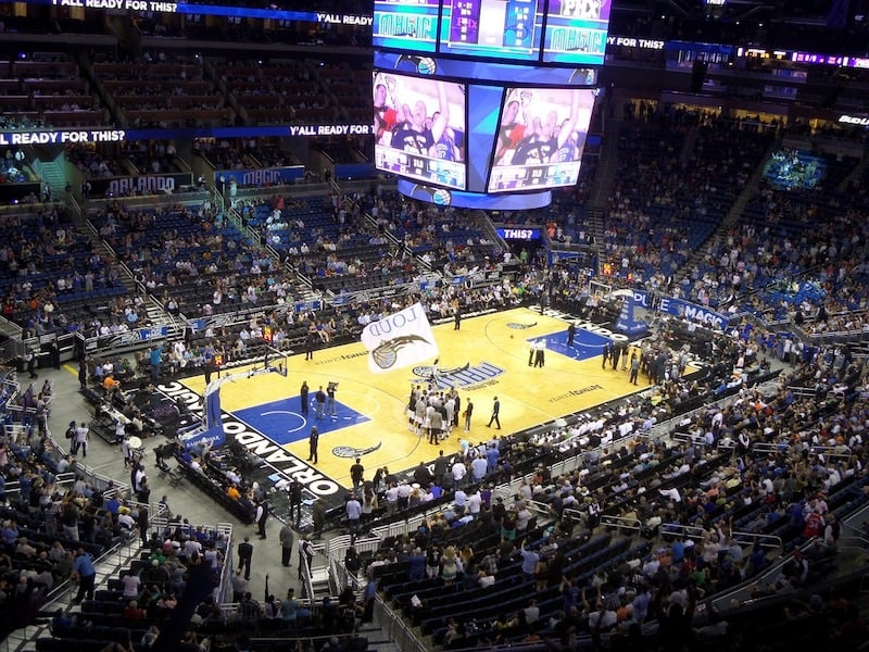 Basketball game at the Amway Center