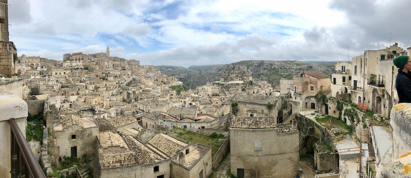 View across the roofs of the old town of Matera