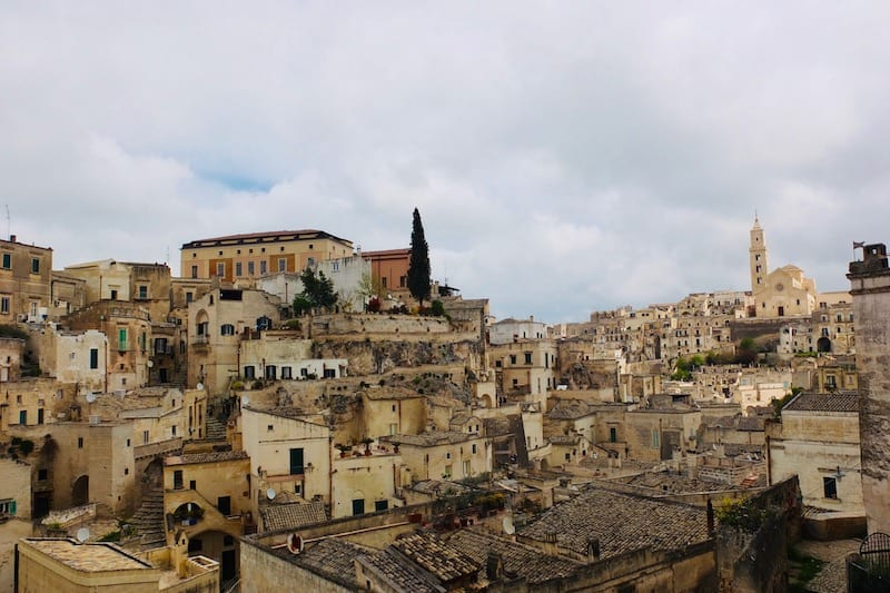Expansive view of the Sassi from one of the many overlooks in Matera