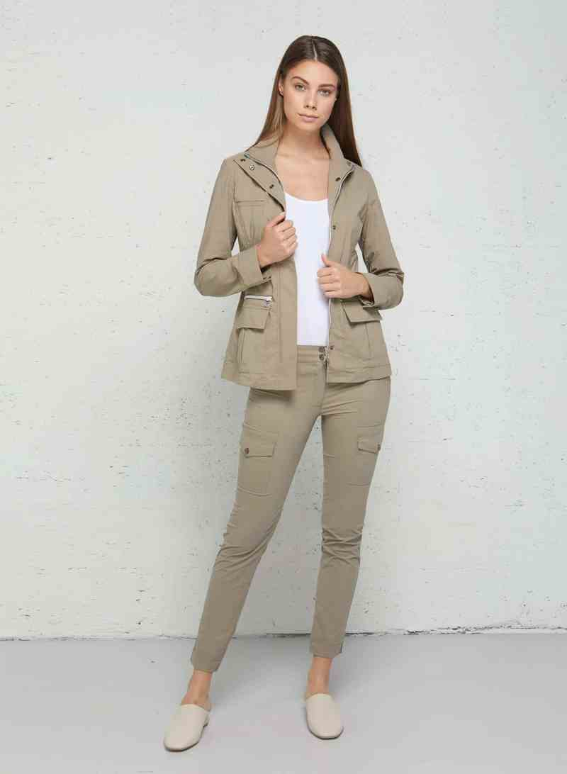 Mother's Day Gift Guide for Traveling Moms- Anatomie Kenya Safari Jacket and Kate Skinny Cargo Pant