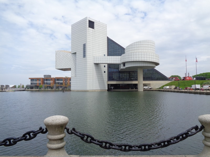 The Rock and Roll Hall of Fame designed by I.M. Pei