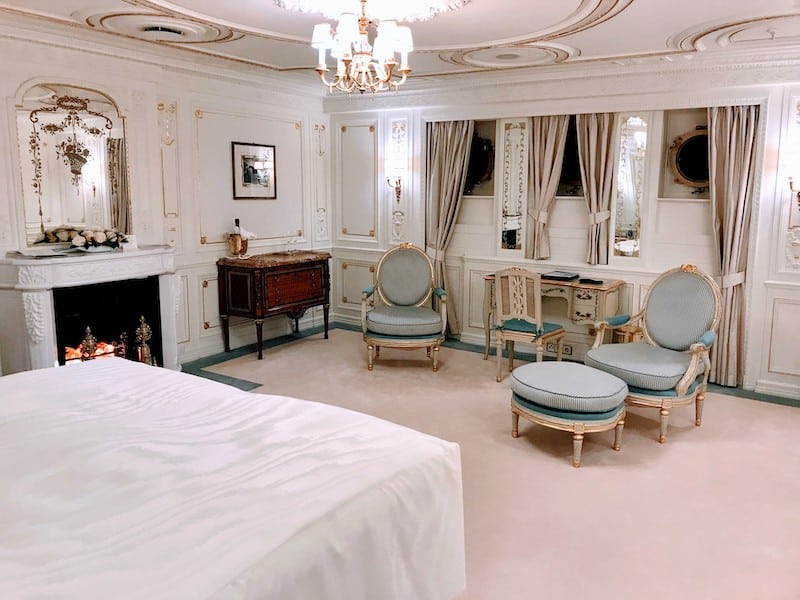 The stateroom that belonged to Marjorie Merriweather Post is the most elegant one on the ship.