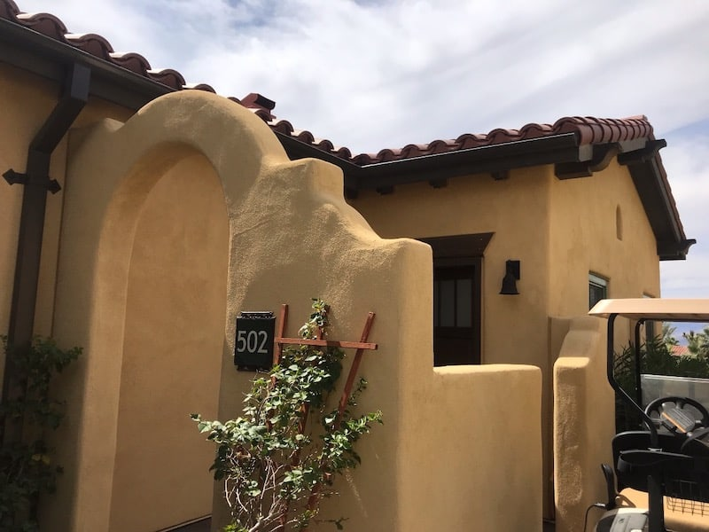 One of the casitas at the Oasis at Death Valley