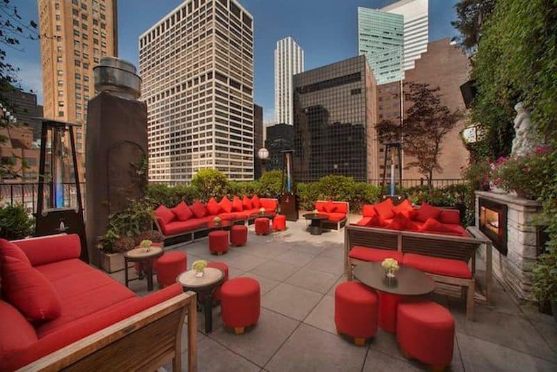 Outdoor Garden Bar Upstairs offers city views