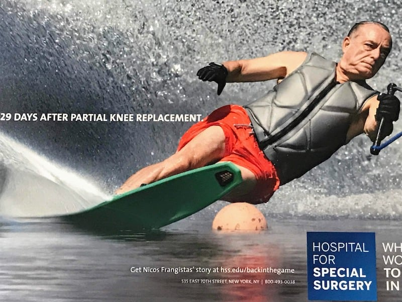 Medical Tourism - Poster at the Hospital for Special Surgery