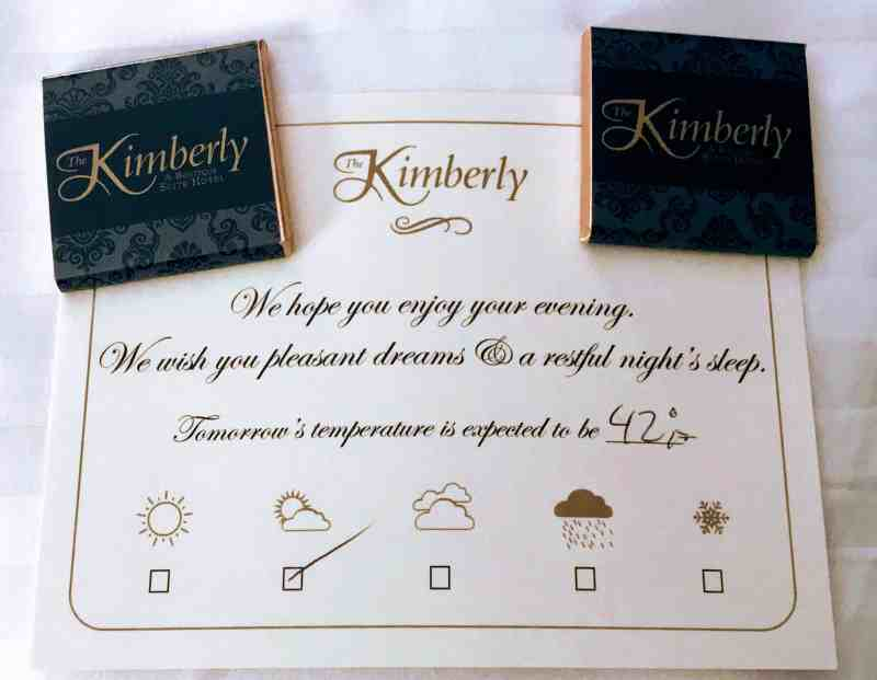 Medical Tourism - Small comforts at The Kimberly