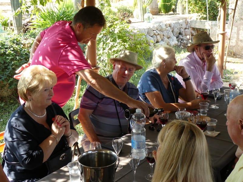 Wine tasting in Mallorca on Voyage du Vin cruise