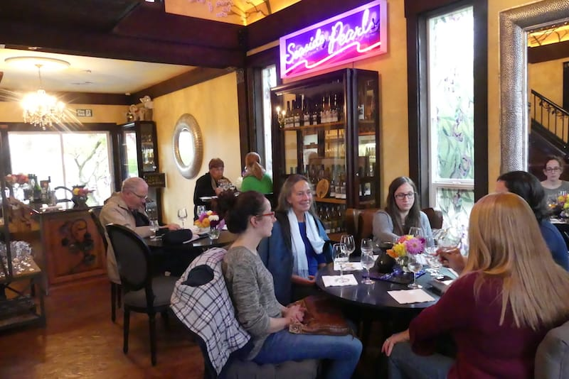 In the Fraser Valley wine region in British Columbia: Cozy chapel tasting room at the Seaside Pearl winery