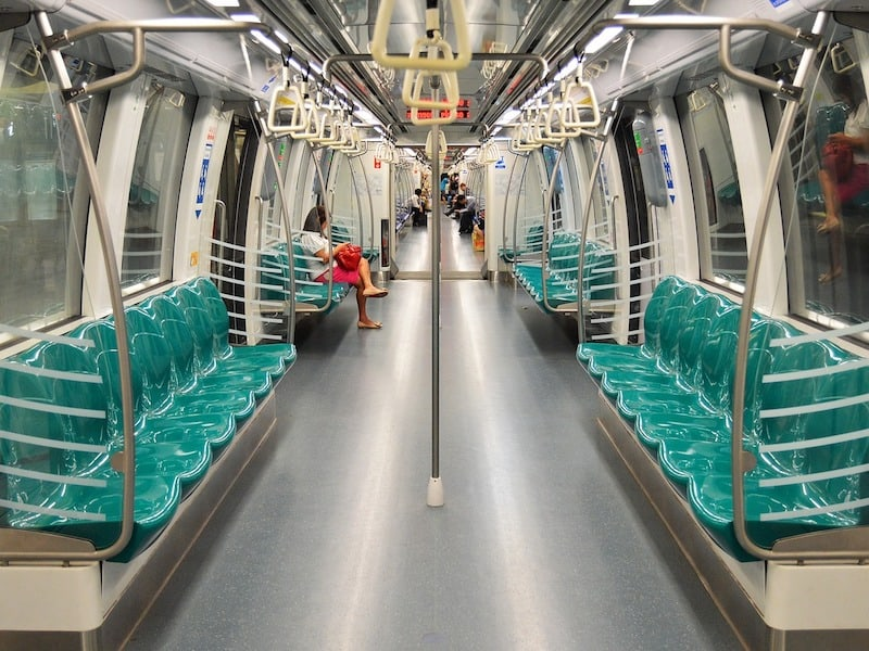 A train in Singapore