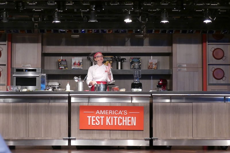 On Eurodam from Vancouver: America's Test Kitchen. Cooking Demos on Sea Days